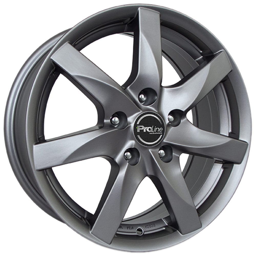 proline bx100 metal grey 5x100 et40 57 1 alloy rim for volkswagen. Black Bedroom Furniture Sets. Home Design Ideas