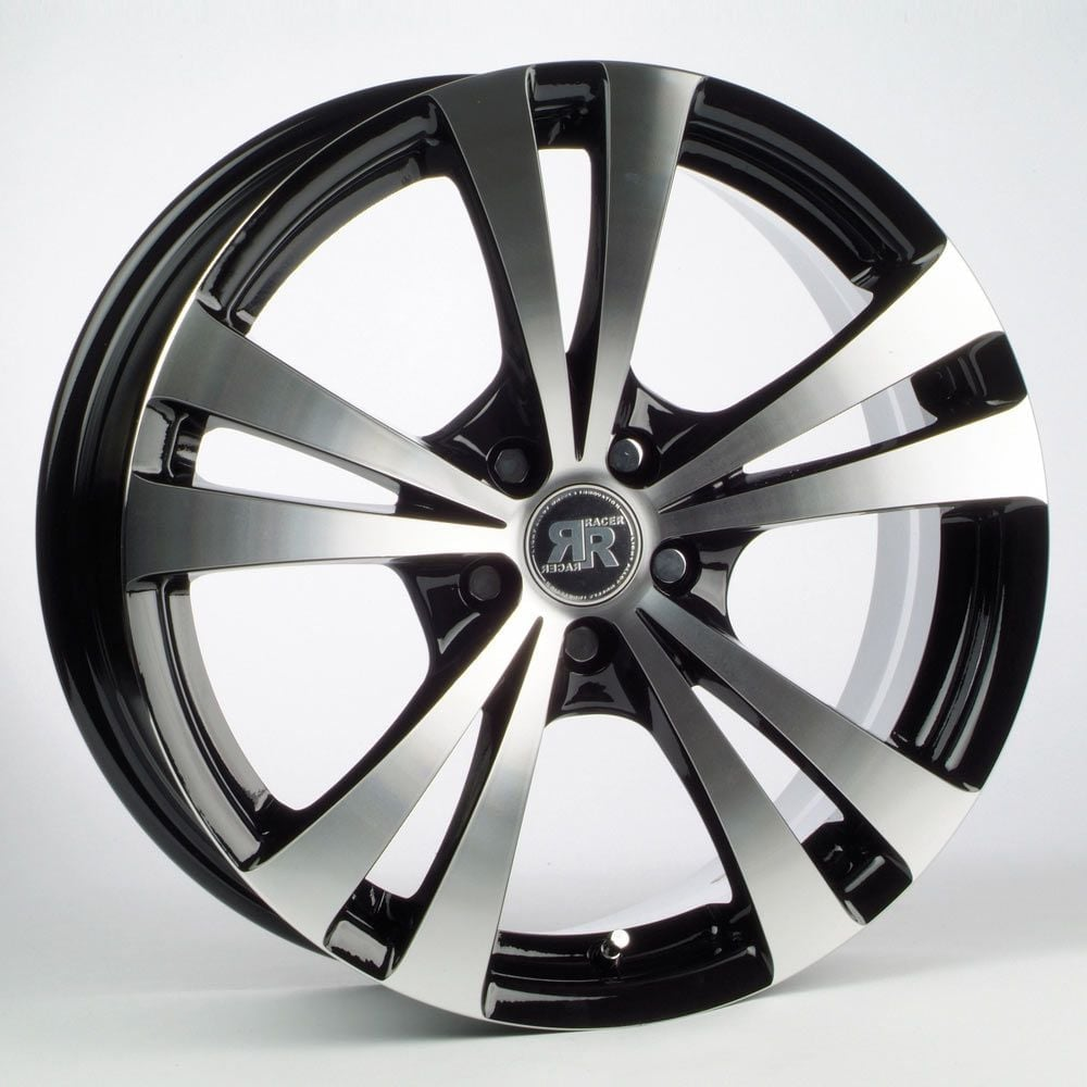 racer lyra black machined face 4x100 et35 67 1 alloy rim for mini opel. Black Bedroom Furniture Sets. Home Design Ideas